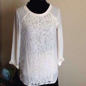 H&M Beautiful Lace Top Size 2
